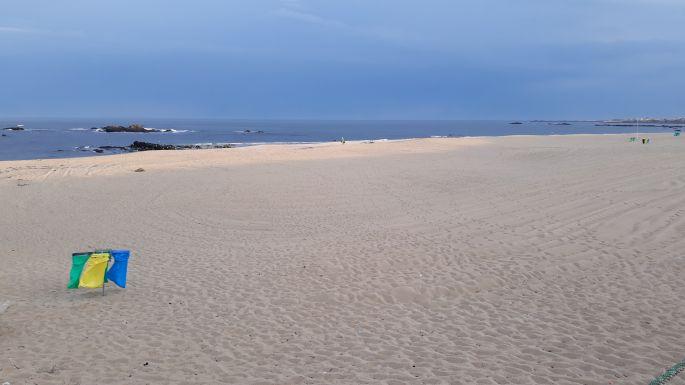 Portugál Camino de la Costa, homokos part