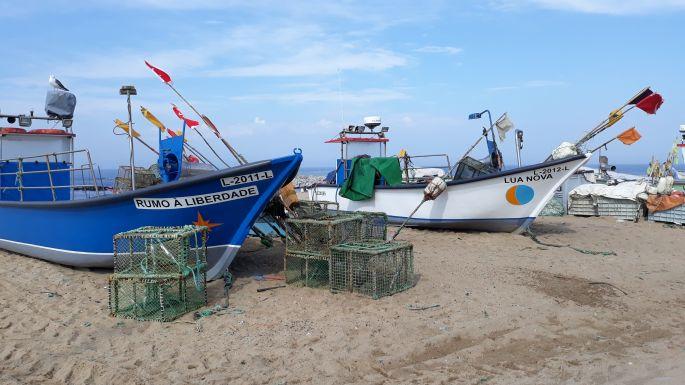 Portugál Camino de la Costa, halászhajók