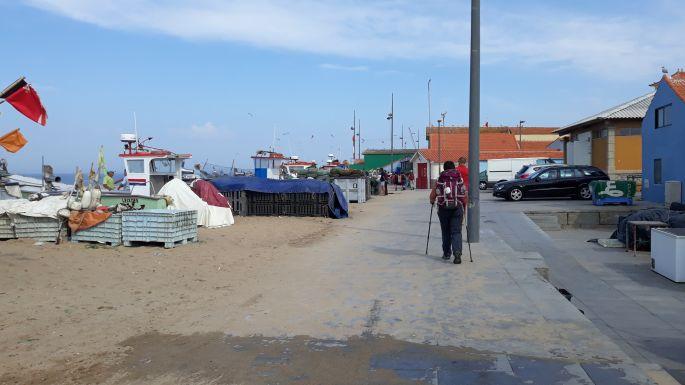 Portugál Camino de la Costa, halászfalu