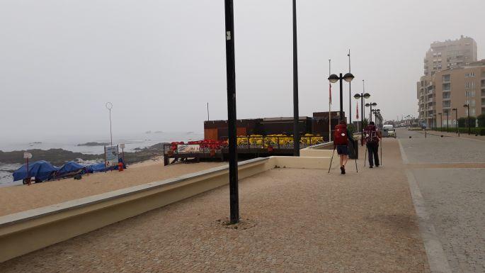El Camino Costa, Portugál parti út, sétány