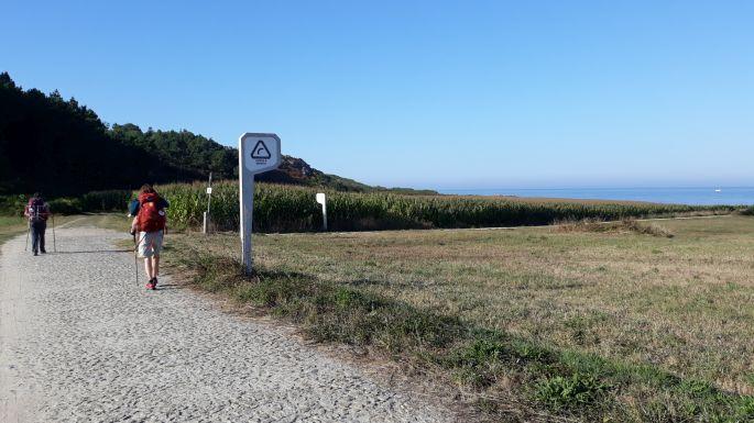 Portugál Camino Costa, ki tudja hogyan, de itt már jobb kéz felől volt az óceán