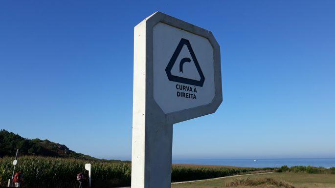 Portugál Camino Costa, ez a curva, mármint kanyar mindig előkerült valahonnan
