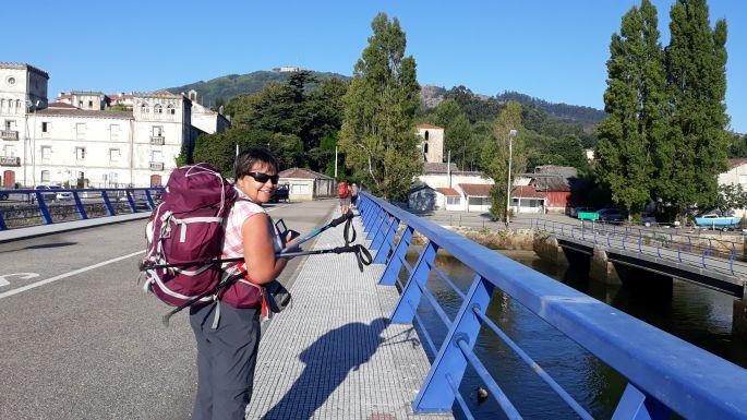 Portugál Camino Costa, A Guarda komp kikötő, ahol Erika örül :-)
