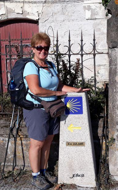 Portugál Camino Costa, A Guarda, az első caminós jelzőkő és Andrea