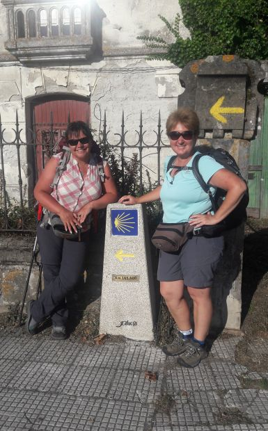 Portugál Camino Costa, A Guarda, az első caminós jelzőkő és Erika & Andrea