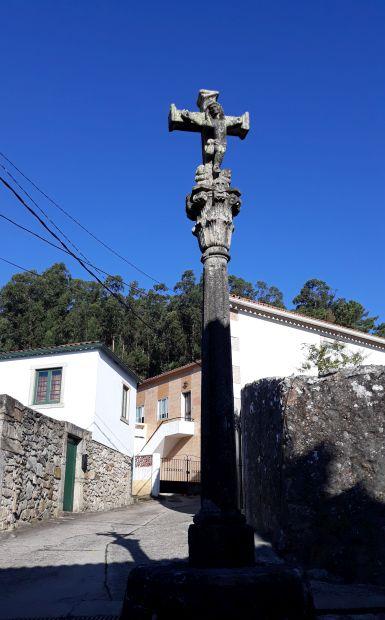 Portugál Camino Costa, A Guarda, kőkereszt