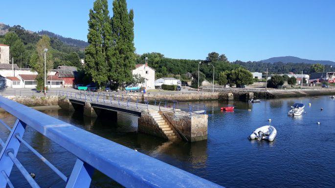 Portugál Camino Costa, kikötő A Guarda városában