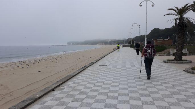Portugál Camino Costa, Oia, a parti sétány Erikával