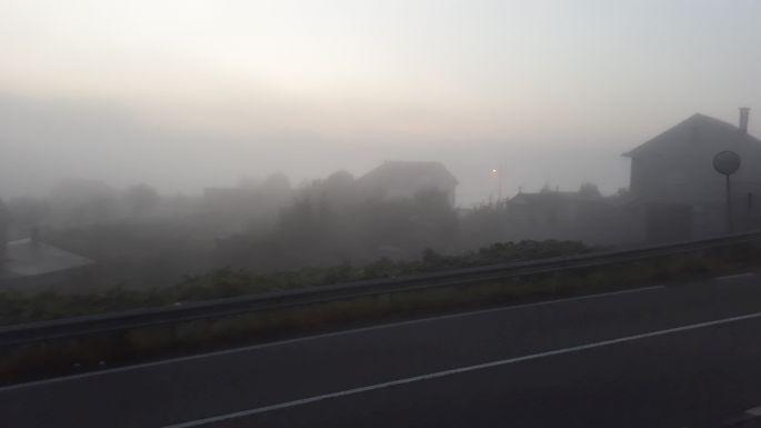 Variante Espiritual, napfelkelte, csak a pára miatt nem látszik a nap :-)