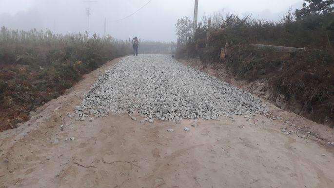 Variante Espiritual, a zúzott kőágyas út, brrrr...