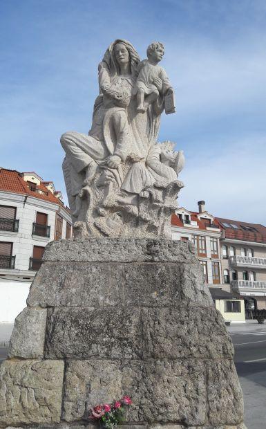 Variante Espiritual, Vilanova de Arousa, szobor