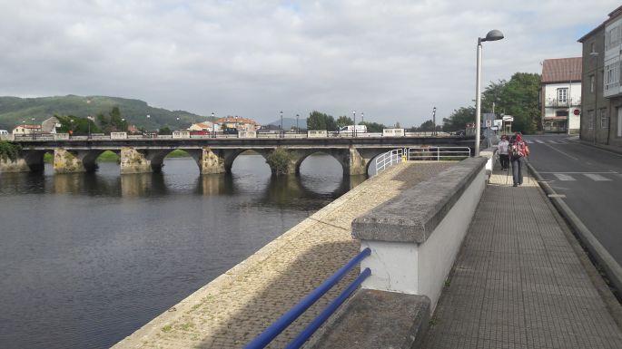 Variante Espiritual, Pontecesures, híd