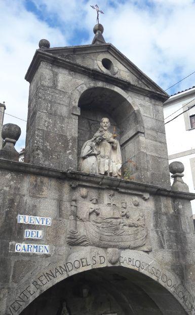 Variante Espiritual, Portugál Camino, Padrón, Fonte do Carme