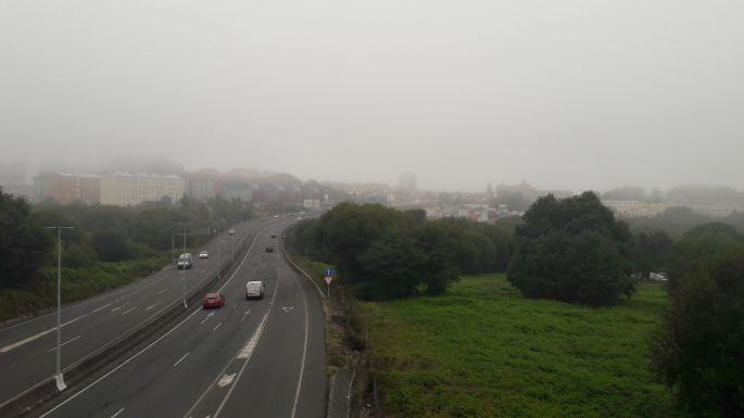 Portugál Camino, autópálya a felüljáróról
