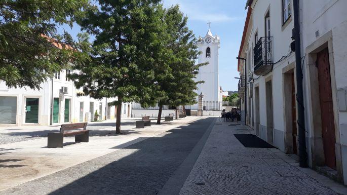 Portugál Camino, Ansiao, főtér
