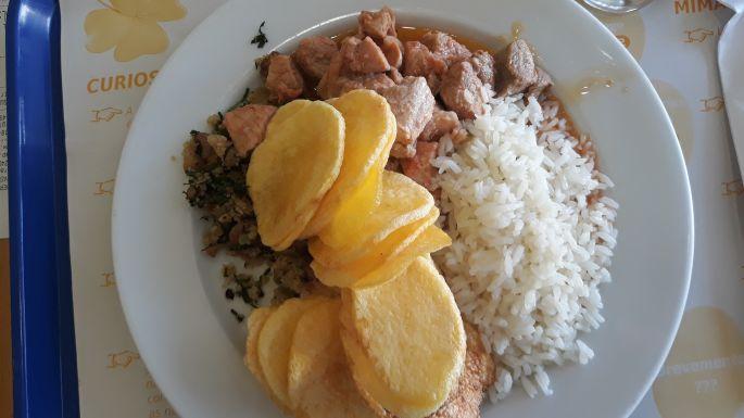 Portugál Camino, ebéd