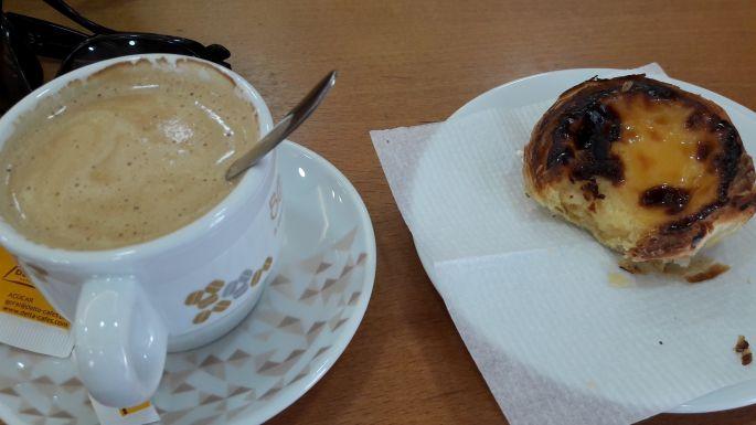 Portugál Camino, kávé és Pastel de Nata süti :-)