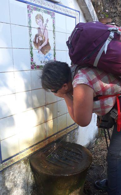 Portugál Camino, ivókút