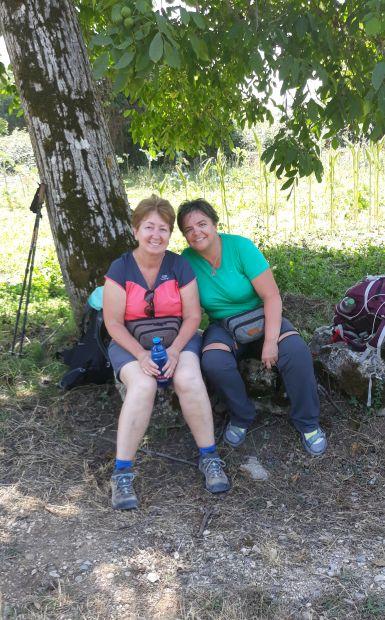Portugál camino, Andrea és Erika