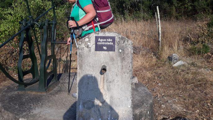Portugál camino, kerekes kút