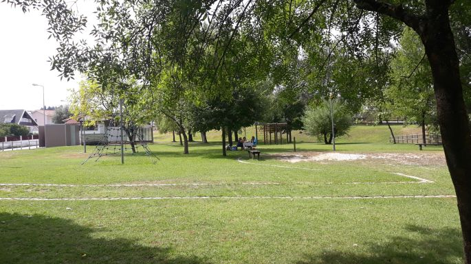 Portugál camino, pihenő park