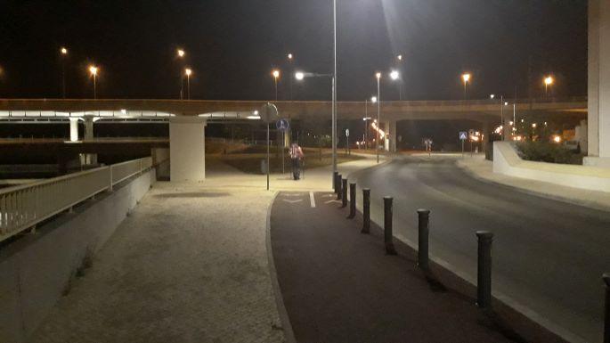Portugál camino, Coimbra sötétben