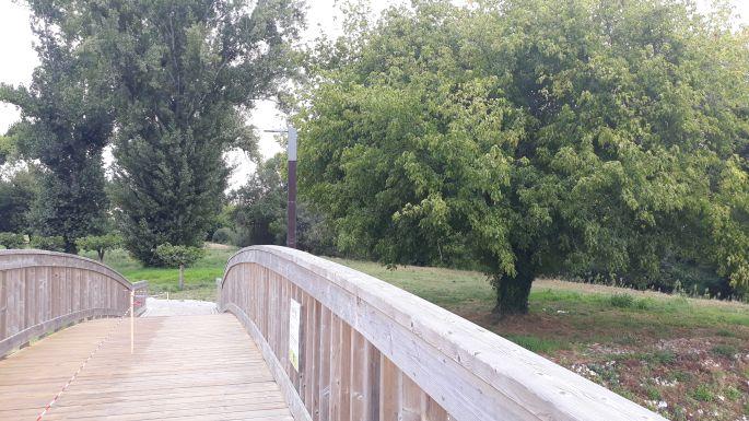 Portugál camino, híd a folyó felett