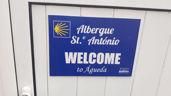 Portugál camino, Águeda, San António albergue