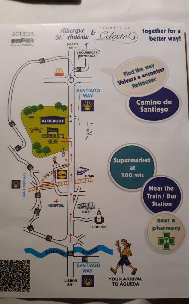 Portugál camino, Águeda, térkép