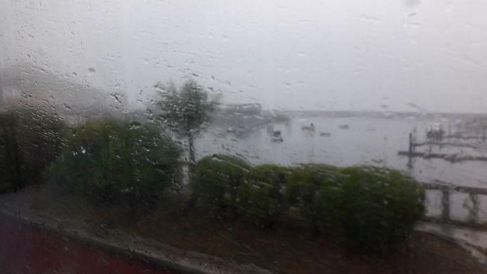 El Camino, ez már Muxia a buszról, szakadó esőben