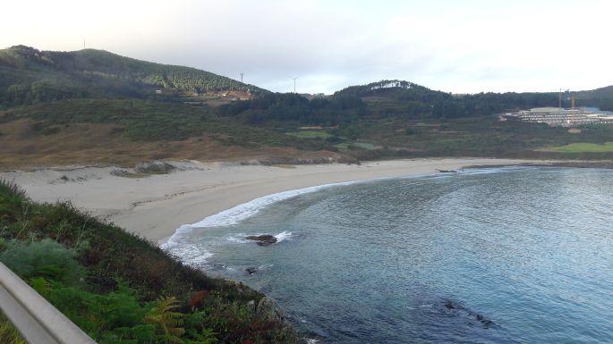 El Camino, Muxia, a Dos Faros egy szakasza a homokos parton