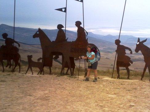 El Camino Alto de Pedron hegy zarandok emlekmu.jpg