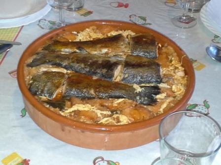 Spanyol pisztráng leves volt a fő fogás.