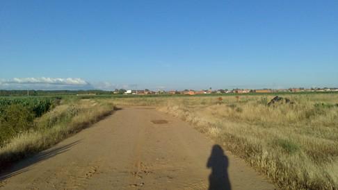 Az El Camino zarándokút és Márti árnyéka.