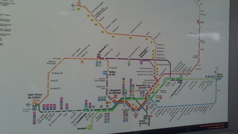Barcelona metró térkép.
