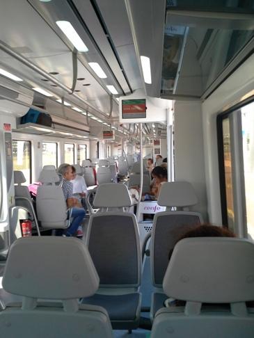 A metró belülről.