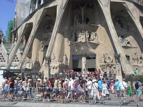 Sagrada Familia bejárat
