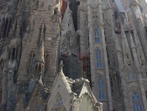 Sagrada Familia hátulról