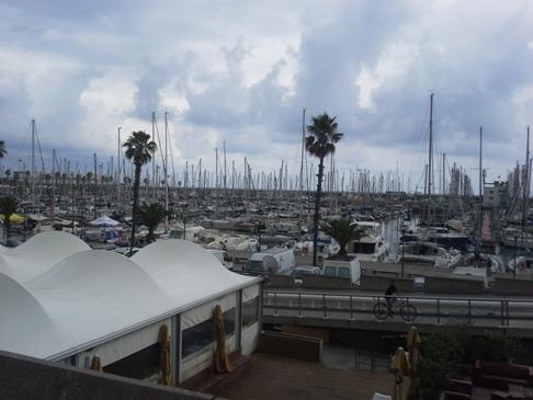 Yacht kikötő, Barcelona.