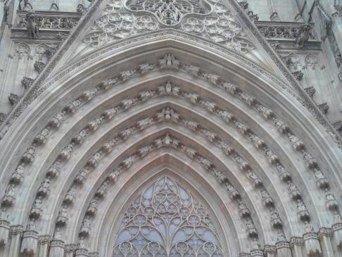 Barcelona katedrális homlokzat.