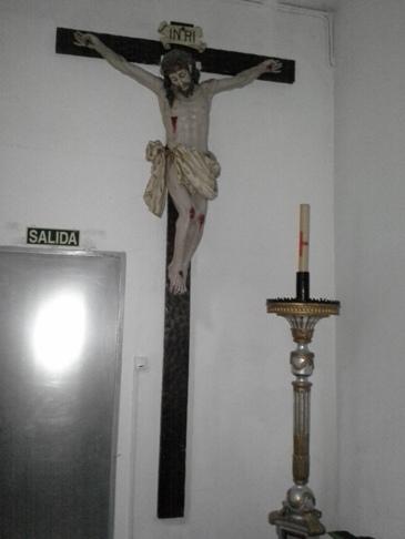 A keresztre feszített Krisztus.