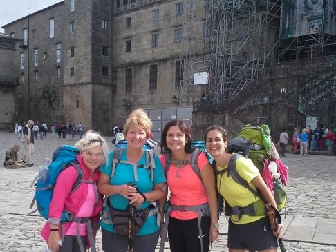 Balról jobbra: Britta, Andrea, Carolin, Sarah
