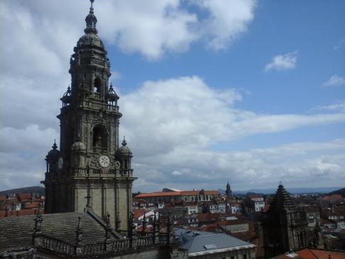 A katedrális tornya fentről.