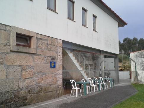 Portela, a zarándokszállás bejárata.