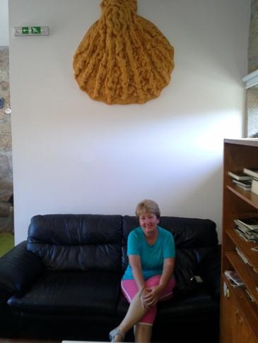 Kagyló, kanapé, Andrea. :-)