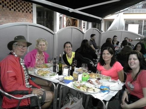 Balról: William, Anita, Sarah, Carolin, Tanja