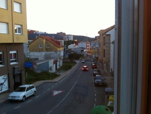 Kilátás a szoba ablakából a kikötő felé nézve...