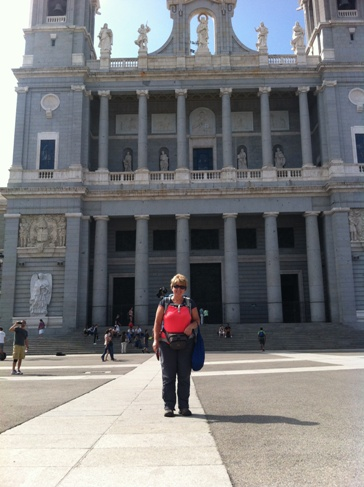 Madrid, Almudena katedrális és Andrea :-)