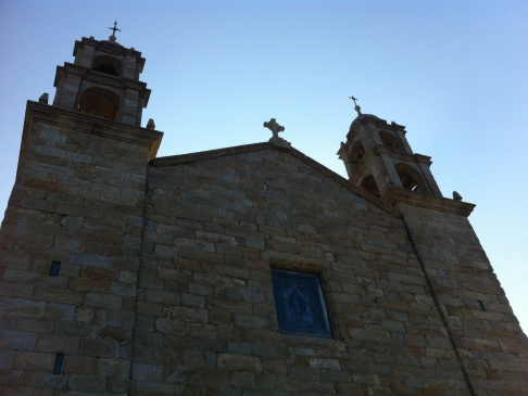 Muxia, templom délelőtt