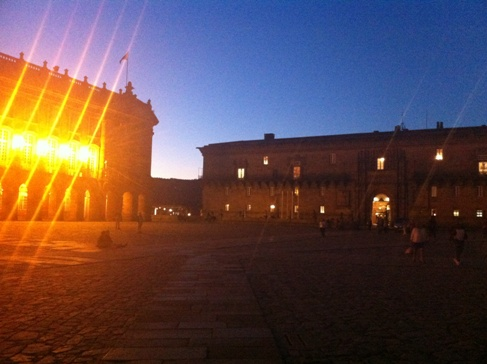 A városháza és a Hotel Parador, Santiago de Compostela